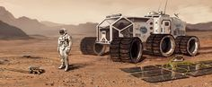 Concept art for The Martian by Oleg Zherebin Future Trucks, Future Car, Space Travel, The Martian, Retro Art, National Geographic, Habitats, Mars, Planets