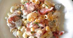 Mennyei Tésztasaláta recept! Ha valami gyors, és egyszerű vacsorára vágysz, válaszd ezt a tésztasaláta receptet! Az a jó benne, hogy bármilyen maradék felhasználható hozzá! :-) Hungarian Recipes, Hungarian Food, Pasta Salad, Salads, Recipies, Food And Drink, Meals, Ethnic Recipes, Kitchen