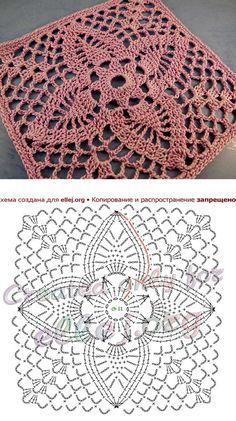 Transcendent Crochet a Solid Granny Square Ideas. Inconceivable Crochet a Solid Granny Square Ideas. Crochet Square Blanket, Granny Square Crochet Pattern, Crochet Blocks, Crochet Diagram, Crochet Chart, Crochet Squares, Thread Crochet, Free Crochet, Crochet Granny