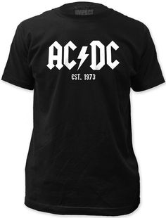 This men's black AC/DC tshirt features the band's famous logo along with the year the band was established, 1973. Our tee is made from 100% cotton.