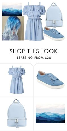 """blue mountains"" by colekat ❤ liked on Polyvore featuring Miss Selfridge, J/Slides and MICHAEL Michael Kors"
