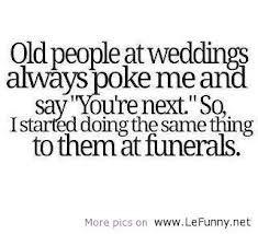 old people at weddings...