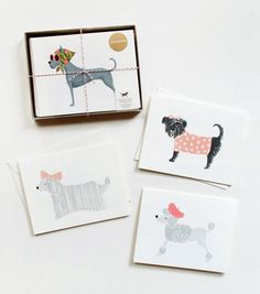 Girlie Dog Card set from Rifle Paper Co. I think these cards were made for me. :))