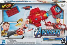 Shop Nerf Power Moves Marvel Avengers Iron Man Repulsor Blast Dart-Launching Toy at Best Buy. Pokemon Birthday, 5th Birthday, Birthday Ideas, Nerf Storage, Nerf Darts, Batman Gifts, Captain Underpants, Brand Character, The Avengers