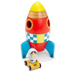 Wooden Stacking Rocket | Kmart