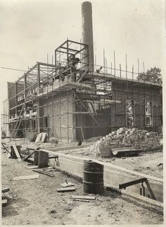 Boiler House under construction 1956 Bata Factory East Tilbury