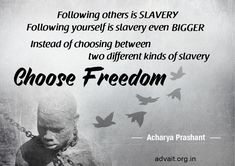 Acharya Prashant on Nisargadatta Maharaj: Leave the prison, but don't get attached to freedom either 2017 Quotes, Daily Quotes, Best Quotes, Life Quotes In English, Jim Corbett National Park, Freedom Quotes, Life Changing Quotes, Camping With Kids, Stay The Night