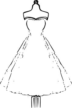 dress Coloring Books | Beautiful Dress Coloring Pages and Pictures for Adults and Kids