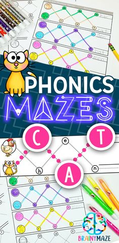 Phonics Mazes & Word Family Printables for Kindergarten!  Students Seek and Spell 88 words with this simple reading activity pack.  Includes 22 word families, covering 88 words, on 11 Maze Activity Pages. via @CraftyClassroom
