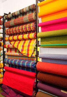Hand loomed fabrics in Sri Lanka