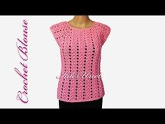 How to crochet short-sleeve women's sweater - video tutorial with detailed instructions - YouTube