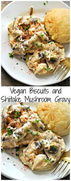 Vegan Biscuits and Shiitake Mushroom Gravy - Rabbit and Wolves