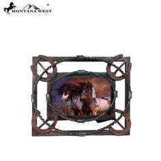 "Barbwire with Horseshoe Metal Photo Frame Photo Frame 6"" x 4"""