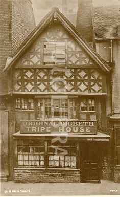 Photograph of the century Digbeth Tripe House, Birmingham. (Photograph of the old Digbeth Tripe House, Birmingham (long demolilshed)) Local History, British History, Old Pictures, Old Photos, Vintage Photos, Black Country Living Museum, Birmingham City Centre, Birmingham England, West Midlands