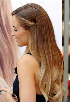 Langes Braun Haare mit Blondine ,,