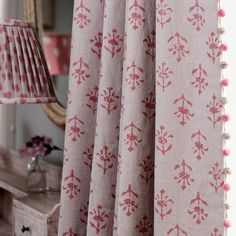 Susie Watson Designs offers a timeless collection of handmade fabrics, wallpaper, furniture, pottery, soft furnishings & gifts in her signature colour palette. Fabric Blinds, Curtains With Blinds, Curtain Fabric, Hallway Curtains, Lounge Curtains, Bedroom Blinds, Curtain Poles, Valances, Sheer Curtains