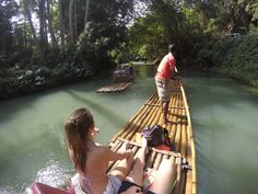 Rafting the Martha Brae. Falmouth, Jamaica.