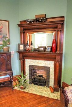 Beautiful White Antique Fireplace Mantle In 2019 Mantels