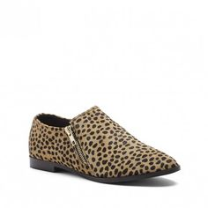 Cheetah Dot Double Zipper Loafer | Birch | Free Shipping on Orders $30+