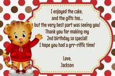 Daniel Tiger's Neighborhood Birthday Invitation, Daniel Tiger Birthday, Daniel…
