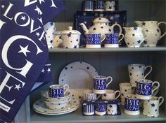 Starry Toast and Big Love combination. Looks fantastic http://www.emmabridgewater.co.uk/icat/allblues
