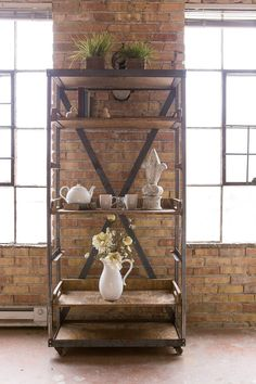 Beautiful Handmade Vintage Industrial Shelf by eastoaklane on Etsy, $475.00