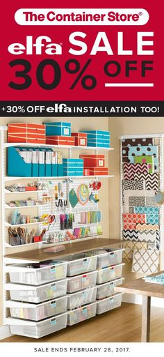 This space is sure to get your creative juices flowing! You'll love the drawers, shelves, utility Boards and racks for paper or fabric.