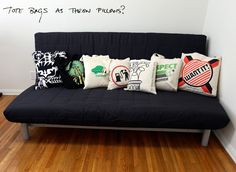 Totebag Throw Pillows: Turn Tote bags into Throw pillow with or without handles