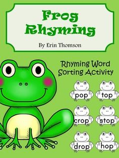 This packet of Frog Rhyming Words can be used in many ways. You can use them as a hands-on word sorting activity, or as a large and small group guided activity.  They can also be turned into a file folder game! Word Sorts are great because they can be used to help students analyze words by recognizing the similarities and differences in the selected group of words.