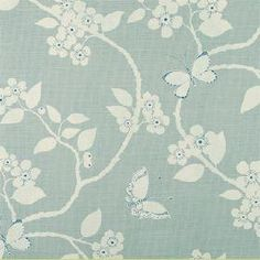 """Vanessa Arbuthnott """"Meadow"""" collection - """"Flora and Fauna"""" fabric in Duck Egg"""