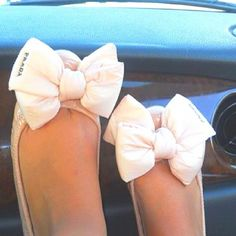 prada bow flats