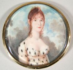 151: Early 19th C. Miniature Portrait on Ivory