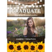 Rustic Sunflower Photo 2018 Graduation Party Card Rustic graduation party invitations featuring a country barn oak barrel background, a photo of the graduate, twinkle string lights, summer sunflowers, the class year and modern white wording #ad #rustic #wood #barrell #stringlights #summer #sunflowers #flowers #grad #graduation #gradparty #graduationparty #rusticgrad #rusticgraduation #graduationinvitation #invitation #countrygraduation #southerngraduation #country #southern