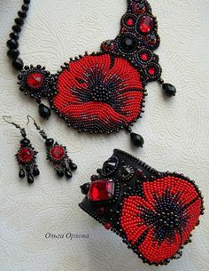 Delicate embroidered jewelry by Olga Orlova | Beads Magic