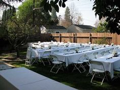 Small Backyard Weddings On Pinterest