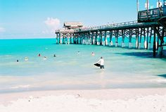 Cocoa Beach Pier. We ate at a resturaunt at the very end of the pier and watched a storm roll in. It was beutiful. Love CoCoa♥