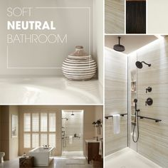 Soft, Neutral BathroomFeaturing These Products: