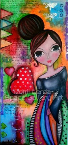 Space Gallery Art added a new photo. Mixed Media Canvas, Mixed Media Art, Fabric Painting, Painting & Drawing, Art Journal Pages, Art Journals, Art Africain, Art Sculpture, Whimsical Art