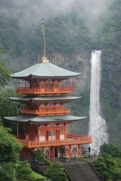 Nachinotaki, highest fall in Japan. World Heritage in Wakayama Japan is number 2 on my list of places to go Wakayama, Places Around The World, Oh The Places You'll Go, Places To Travel, Around The Worlds, Wonderful Places, Beautiful Places, Japanese Temple, Japanese Water