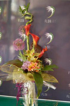 #Buchet #exotic din #bambus, #cala, #orhidee, #alstroemeria cu #livrare În #Chișinău. #buchetexotic #florimoldova