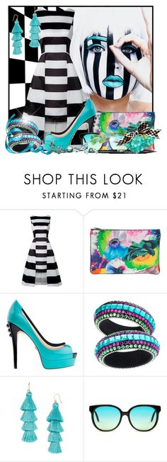 """""""Stripes"""" by doozer ❤ liked on Polyvore featuring Jil Sander, BaubleBar, Barton Perreira and Charlotte Russe"""