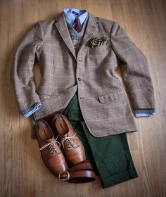 bow tie and tweed blazer