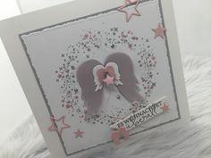 Creative, Stampin Up, Angel Wings, Frame, Christmas, Diy, Scrapbooking, Pink, Cards