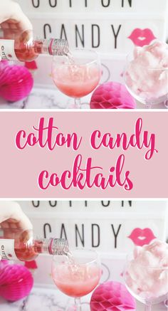 Cotton Candy Cocktail will sweeten up your next girls night or bachelorette party! Cotton Candy Drinks, Cotton Candy Cocktail, Cocktail Drinks, Alcoholic Drinks, Beverages, Cocktail Ideas, Drinks Alcohol, Cotton Candy Recipes, Cocktail Recipes