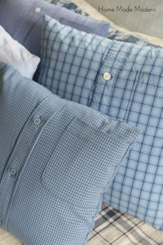 Make 4 Shirt Pillows from Men's Shirts in Less Than 1 Hour how to make pillows out of shirts Related posts: Diy pillows from shirts memory bears 70 Ideas for 2019 Diy pillows from shirts tote bags Ideas DIY Upcycled T-Shirt Pillows Sewing Pillows, Diy Pillows, How To Make Pillows, Shirt Pillows, Cushions, Memory Pillow From Shirt, Memory Pillows, Memory Quilts, Shirt Tutorial