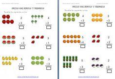 sumas con frutas editable Worksheets, Homeschool, Classroom, Education, Editable, Free, Kids, Special Education, Preschool