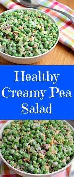 healthy.creamy.pea salad via www.chocolateslopes.com