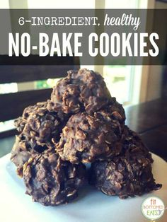 If you have a sweet tooth, these healthy no-bake cookies that contain only six ingredients, will leave you feeling guilt-free. Hello, chocolatey goodness.