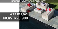 Serena Ivory Sectional Set on sales Outdoor Furniture Sets, Outdoor Decor, South Africa, Ivory, Patio, Creative, Home Decor, Decoration Home, Room Decor