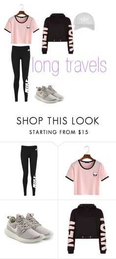 """Long Travels"" by hayleyjf27 on Polyvore featuring NIKE, New Look, Topshop and travel"